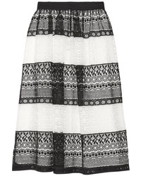 Alice + Olivia Alice Olivia Birdie Crocheted Lace Skirt Black