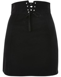 Topshop Corset Lace Up Skirt