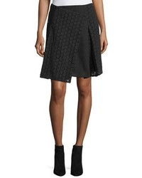 Burberry Howe Mixed Lace Kilt Skirt