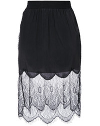 Diesel Lace Overlay Gathered Skirt