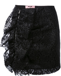 MSGM Lace Ruffle Skirt