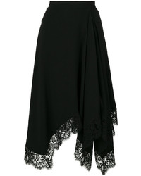 Givenchy Lace Trim Asymmetric Skirt