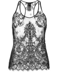 Haider Ackermann Floral Lace Tank Top