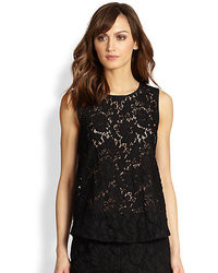 746cc688b8615a Alberta Ferretti Sleeveless Lace Top Out of stock · Diane von Furstenberg  Madalena Rose Lace Top