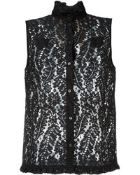 No.21 No21 Floral Lace Sleeveless Blouse