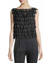 Marc Jacobs Ruffled Organza Ruffle Lace Shell Top