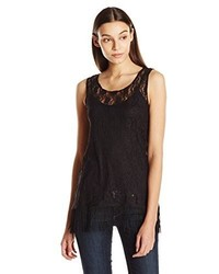Star Vixen Sleeveless Lace Tunic With Fringe