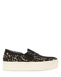 N°21 40mm Suede Lace Slip On Sneakers