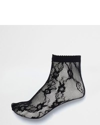 River Island Black Lace Socks
