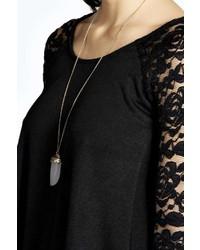 boohoo aaliyah long sleeve lace swing dress where to buy