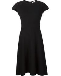 Carolina Herrera Lace Panel Swing Dress