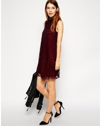 ff9c4dbc49b43 Asos Collection Lace Swing Dress With High Neck, $45 | Asos ...