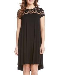 Lace yoke cap sleeve swing dress medium 517882
