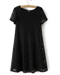ChicNova Short Sleeve Swing Dress In Kaleidoscope Lace