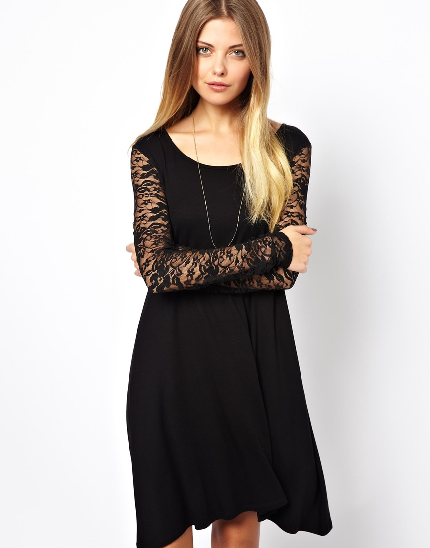 vero moda lace sleeve swing dress where to buy amp how to wear