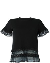 RED Valentino Lace Insert T Shirt