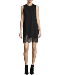 MCQ Alexander Ueen Lace Trim Tank Mini Dress Black