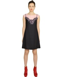 Moschino Lace Slip Printed Techno Cady Dress