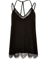 River Island Black Lace Cami