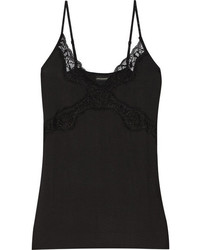 By Malene Birger Newasikio Lace Trimmed Stretch Modal Camisole Black