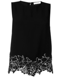 Versace Collection Lace Hem Tank Top