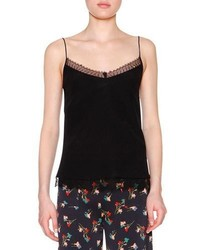 Etro Lace Trim Slim Fit Camisole Black