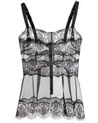 Dolce & Gabbana Lace Trimmed Silk Camisole