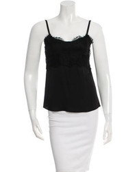 Robert Rodriguez Silk Lace Paneled Top