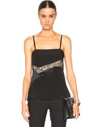 Prabal Gurung Technical Lace Insert Camisole
