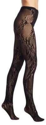 Natori Legwear Feather Lace Net Tights