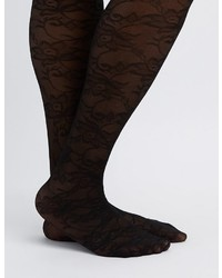 Charlotte Russe Plus Size Floral Lace Tights