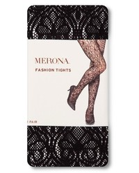 Merona Tights Black Deco Lace