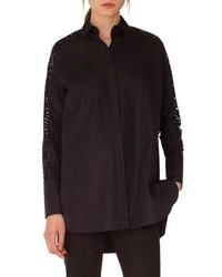 Akris Punto Lace Sleeve Cotton Tunic