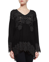 Johnny Was Lacy V Neck Georgette Tunic