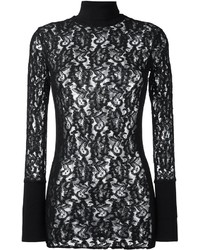 Black Lace Turtleneck