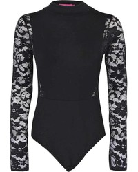 0f4c7b8ca8 Boohoo Robyn Turtle Neck Lace Sleeve Panel Bodysuit