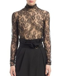 Lanvin Chantilly Lace Turtleneck