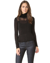Marge lace turtleneck blouse medium 786844