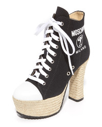 Moschino Laceup Platform Ankle Boots