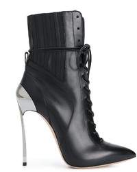 Casadei Techno Blade Lace Up Ankle Boots