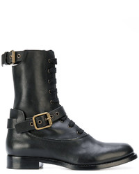 Chloé Buckle Detail Lace Up Boots