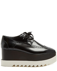 Stella McCartney Elyse Lace Up Faux Leather Platform Shoes