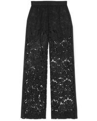 Valentino Med Corded Lace Wide Leg Pants
