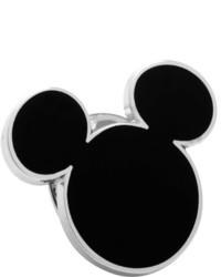 Cufflinks Inc. Cufflinks Inc Enamel Black Flat Mickey Silhouette Lapel Pin Black