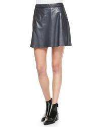Vince A Line Leather Miniskirt