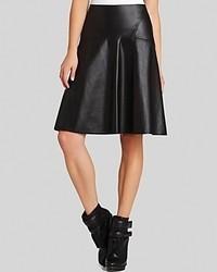 BCBGMAXAZRIA Bcbg Max Azria Skirt Camber A Line Faux Leather