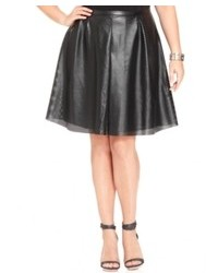 Calvin Klein Plus Size Perforated Faux Leather A Line Skirt