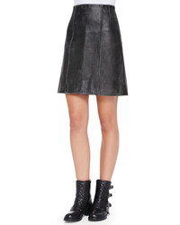 Marc by Marc Jacobs Leather A Line Biker Skirt