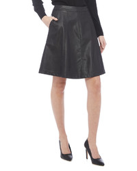 Loveriche Vegan Leather A Line Skirt