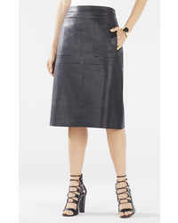 BCBGMAXAZRIA Margaux Faux Leather A Line Skirt